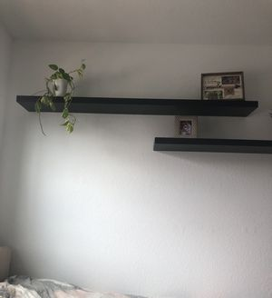Hanging Wall shelf, black-brown (set of 2) for Sale in Miramar, FL