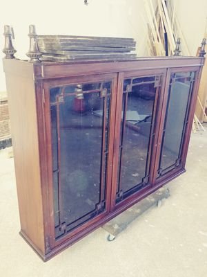 Antique all solid wood cabinet . for Sale in Detroit, MI