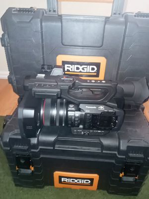 Panasonic 4k camera with carry boxes and accessory's for Sale in Los Gatos, CA