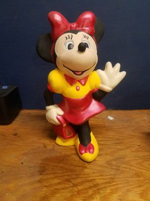 Minnie Mouse Hand Painted Ceramic Walt Disney Productions 9 inch Tall Figurine for Sale in Marble Falls, TX
