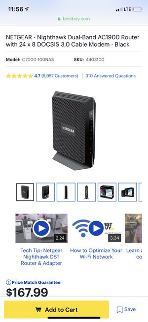 Netgear dual-band modem/router combo for Sale in Wahneta, FL