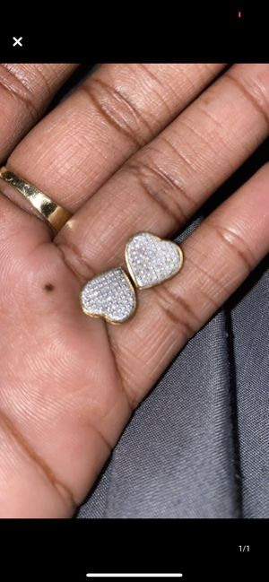 10k gold plated heart earrings for Sale in Greenville, SC