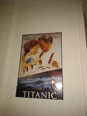 Titanic movie poster framed for Sale in Quincy, IL