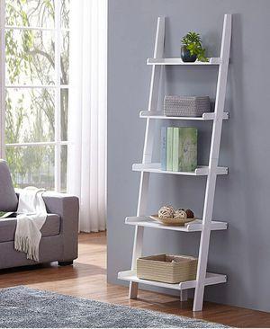 White Finish 5 Tier Bookcase Shelf Ladder for Sale in Henderson, NV