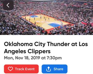 3 Oklahoma thunder vs Clippers tickets for Sale in Los Angeles, CA