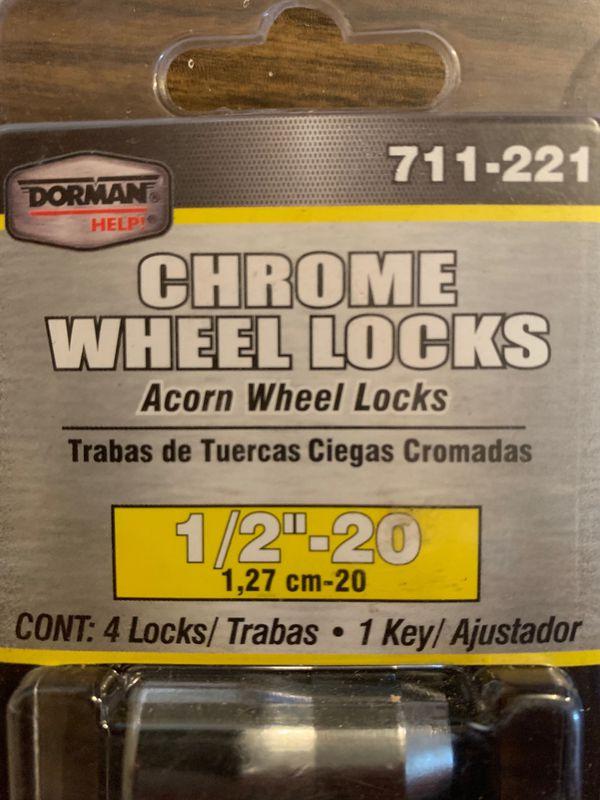 "Dorman Wheel Locks. 1/2""-20. Two packs of 4. Unopened."