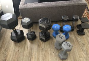 Work out weight dumbbells for Sale in Oceanside, CA