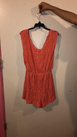 Coral shirt romper for Sale in Wenatchee, WA