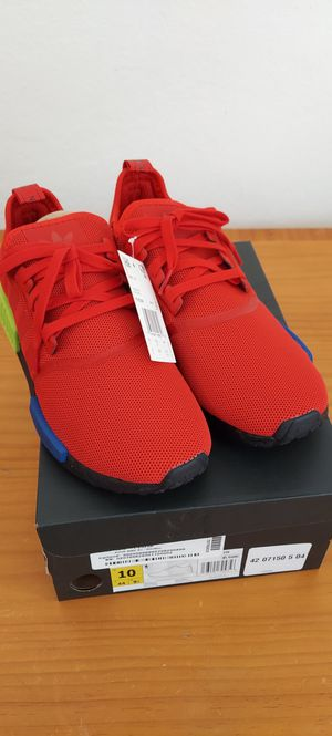 Adidas NMD R1 Multicolor Red Blue Yellow Mens FV5258 Size 10 New With Box for Sale in Miami, FL