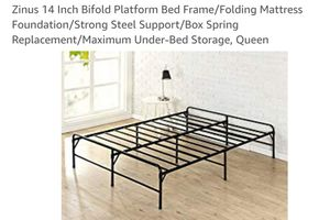 Zinus 14 Inch Bifold Platform Bed Frame Queen for Sale in Canal Winchester, OH