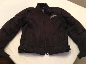 First Gear Black Motorcycle Jacket for Sale in Woodstock, GA