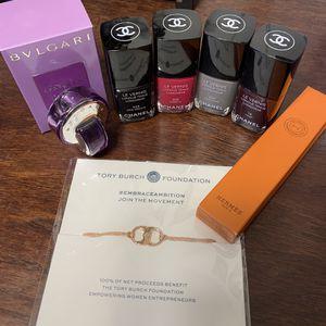 Brand new perfume. Bracelet. Used nail polish twice for Sale in Pomona, CA