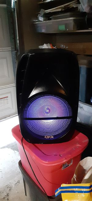 15 in color changing bluetooth .radio woofer for Sale in Litchfield Park, AZ