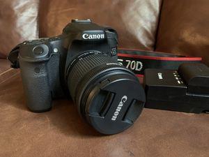 Canon EOS 70D for Sale in San Antonio, TX