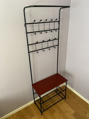 Entryway storage Valet with 3 tier shoe rack for Sale in Tucson, AZ