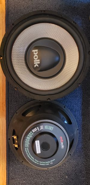 """Jl audio 250x1 amplifier and polk 10"""" subwoofers for Sale in Salem, MA"""