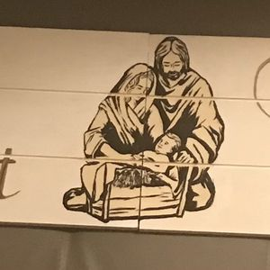 Hand Painted Nativity Wood for Sale in Los Angeles, CA