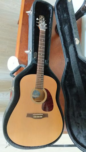 Acoustic guitar, Seagull s6, unlaquered with hardshell case for Sale in Lakeland, FL