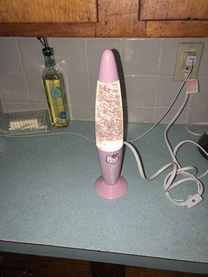 Hello kitty glitter lamp for Sale in Haverhill, MA