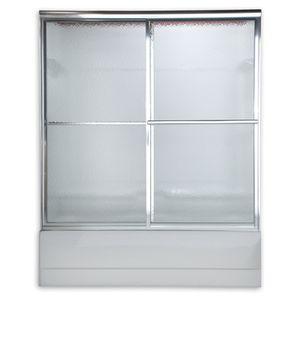 Framed sliding fluted glass shower doors for Sale in San Jose, CA