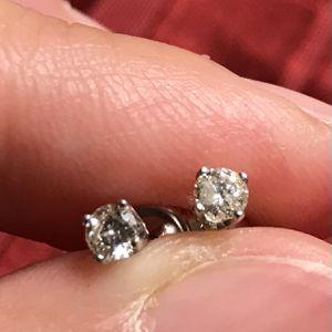 1/3CT Diamond Earrings In 14k White Gold for Sale in Greenville, SC