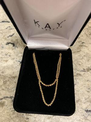 14kt Yellow Gold Rope Chain & Bracelet Set 5.3 grams gold for Sale in San Diego, CA