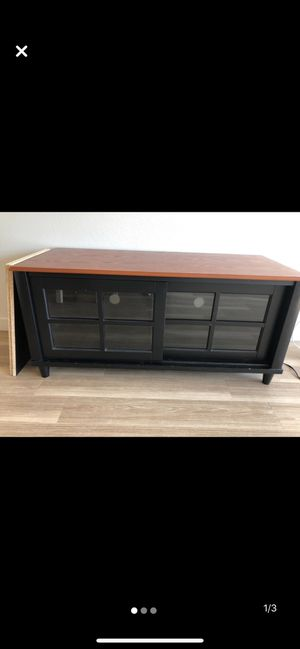Red Wood Entertainment Stand NEED GONE ASAP for Sale in Portland, OR