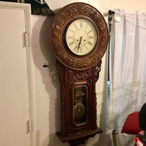 Antique Regulator Pendulum Wall Clock for Sale in San Diego, CA