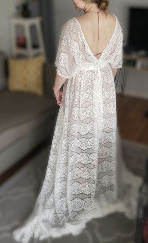 Ivory white lace dress/boho/maternity for Sale in Denver, CO