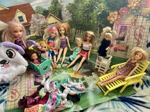 Dolls with furniture , accessories and clothing for Sale in Alameda, CA