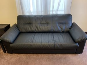 Black leather sofa for Sale in Pittsburgh, PA