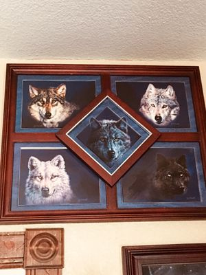 WOLF PICTURES AND PLATE SETS!!! for Sale in Hoquiam, WA