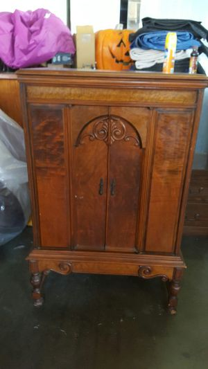 Antique vintage old solid wood radio cabinet for Sale in Downey, CA