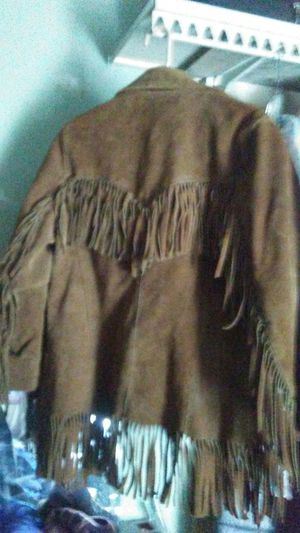 Pioneer wear. ( fringed suede jacket) for Sale in Columbus, OH