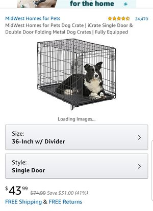 """Large 36"""" Crate with divider for Sale in Lathrop, CA"""