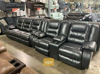 In Stock 💥Black Color Reclining Living Room Set 💥Sofa and Loveseat for Sale in Wilmington,  DE