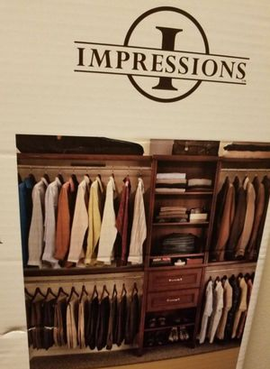 CLOSET ORGANIZER KIT (IMPRESSIONS STANDARD CLOSET W/(2)DRAWERS By ClosetMaid) for Sale in Pinole, CA