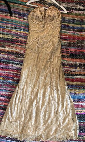 Gold Strapless Mermaid Narianna Formal Dress for Sale in Los Angeles, CA