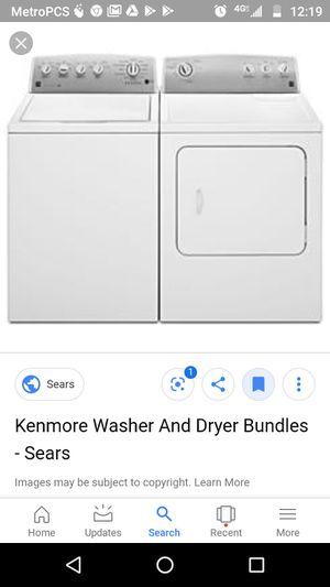 Kenmore washer and dryer or best offer for Sale in Bloomington, CA
