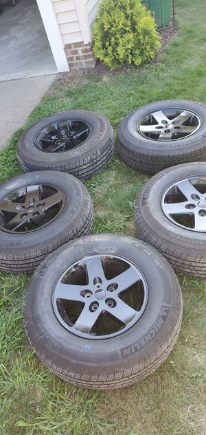 2016 Jeep Wrangler Black Bear edition wheels and tires for Sale in Mentor, OH