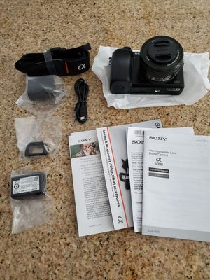 Sony Alpha a6000 Mirrorless Camera w/ 15-50mm Retractable Lens Black for Sale in Brentwood, CA