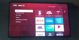 "Tcl roku 55"" tv 4K for Sale in Grove City, OH"