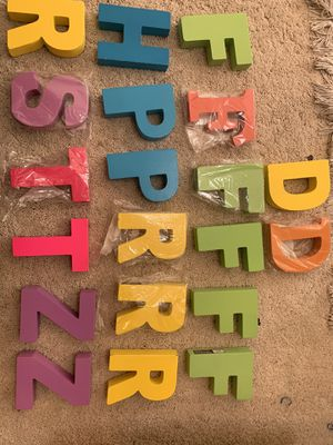 Michaels Wooden letter 4.5 inch long and 1 inch thick for $0.25 each for Sale in Fremont, CA