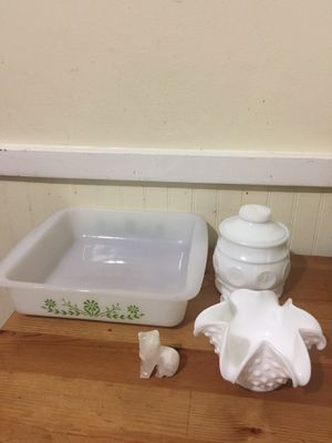 Milk glass pieces for Sale in Germantown, MD