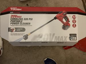 HYPER TOUGH. HT CHARGE. Cordless 320 PSI Portable Power Cleaner (Powerwasher) for Sale in Hopewell, VA