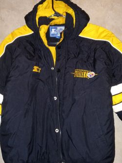 Starter Pittsburgh Steelers Puffy Parka Jacket Mens Sz.L for Sale in Hollywood,  FL