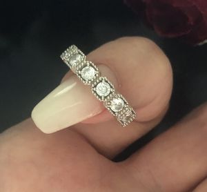 Size 7 sterling silver 925 eternity ring high quality for Sale in Denver, CO