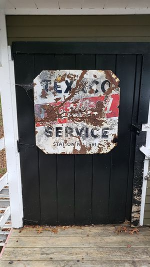 Double side Porcelain texaco service station sign for Sale in Carver, MA
