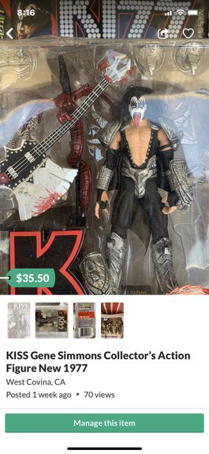 New Rare-1977 Collectable Kiss Gene Simmons Action figure for Sale in West Covina, CA