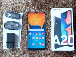 Used Samsung Galaxy A20 Phone and Kit, Belt Clip, Case, Glass Protector for Sale in Tampa, FL
